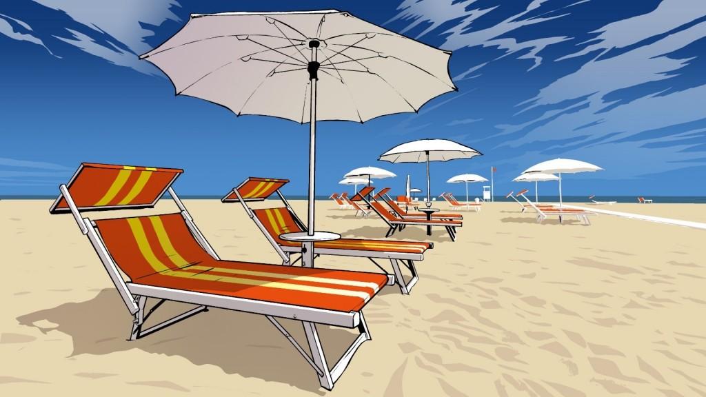 Der Strand von Bibione (Quelle: MERANER MORGEN)