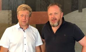 Franz Locher und Gert Lanz werben für Biodiversität